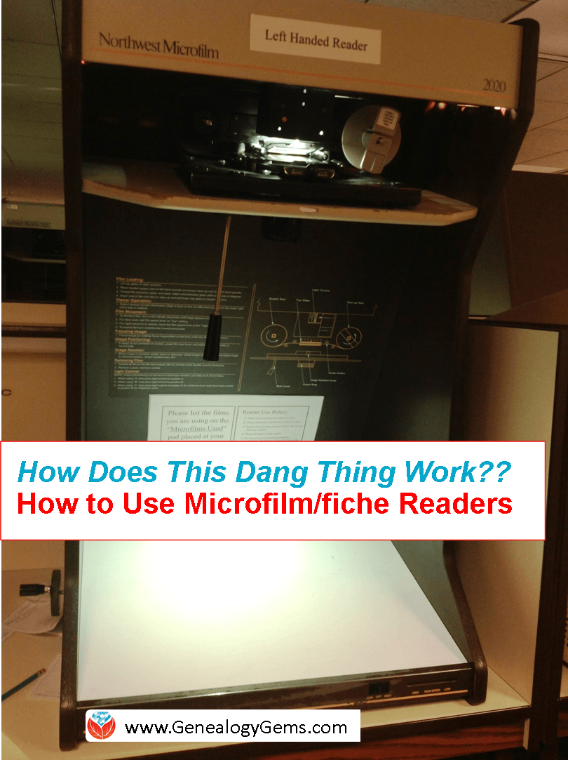 How to Use a Microfilm Reader or a Microfiche Reader