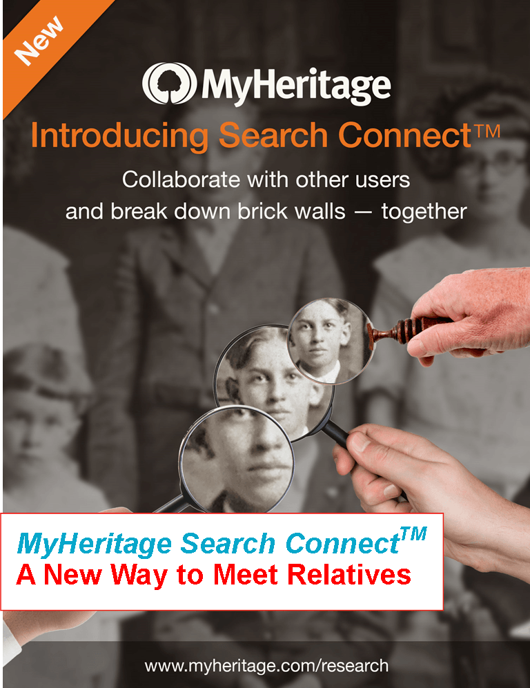 MyHeritage Search Connect – A New Way to Meet Relatives
