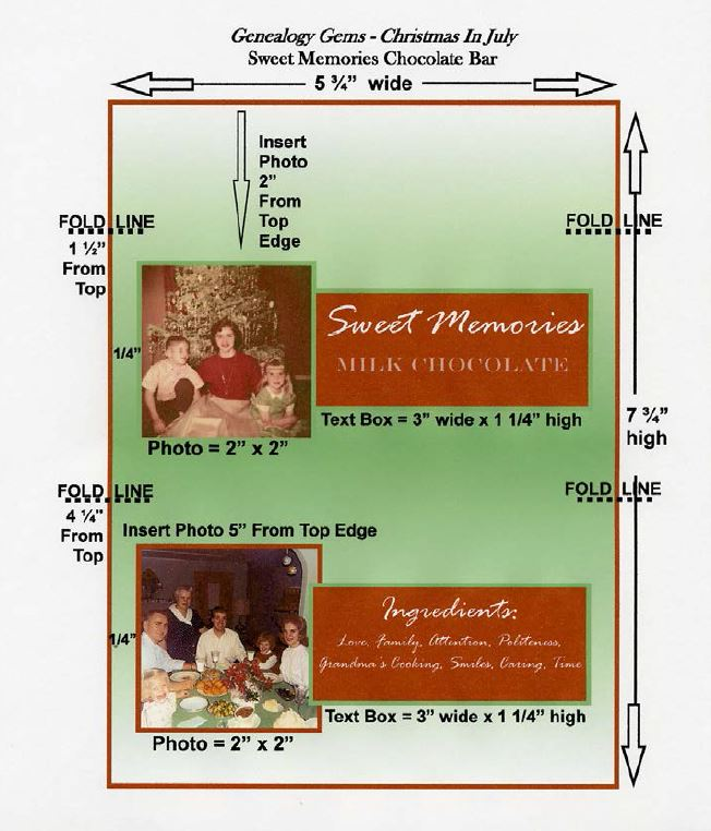 sweet memories chocolate bar template