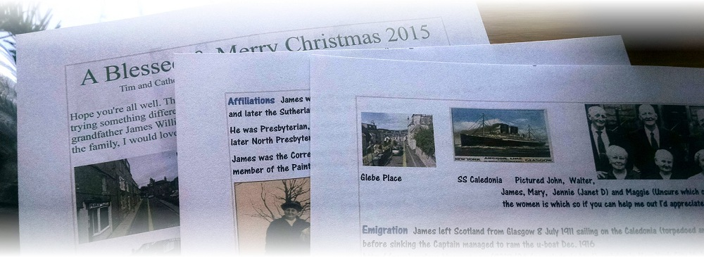 Family History in the Annual Christmas Letter? What a Great Idea!