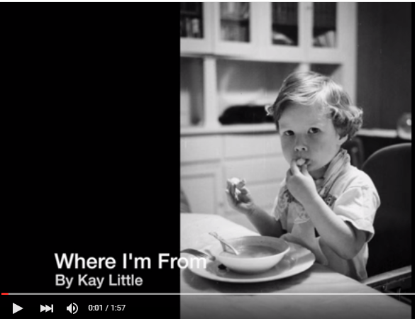"A ""Where I'm From"" Video and More from Our Poetry Contest"