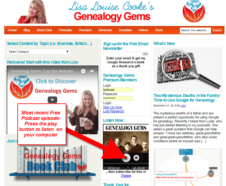 genealogy gems podcast how to 1