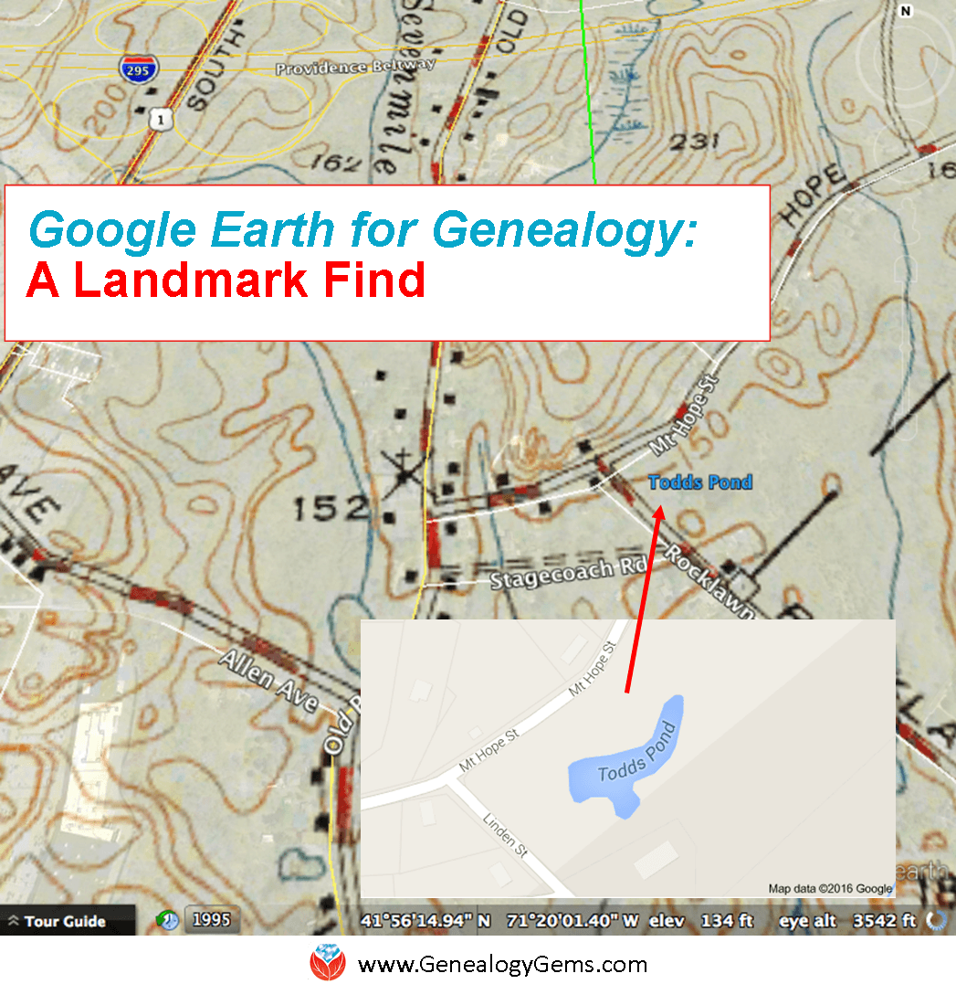 google earth for family hsitory and genealogy landmark find