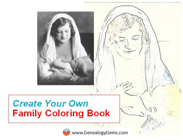 How to Create a Coloring Book for Family History