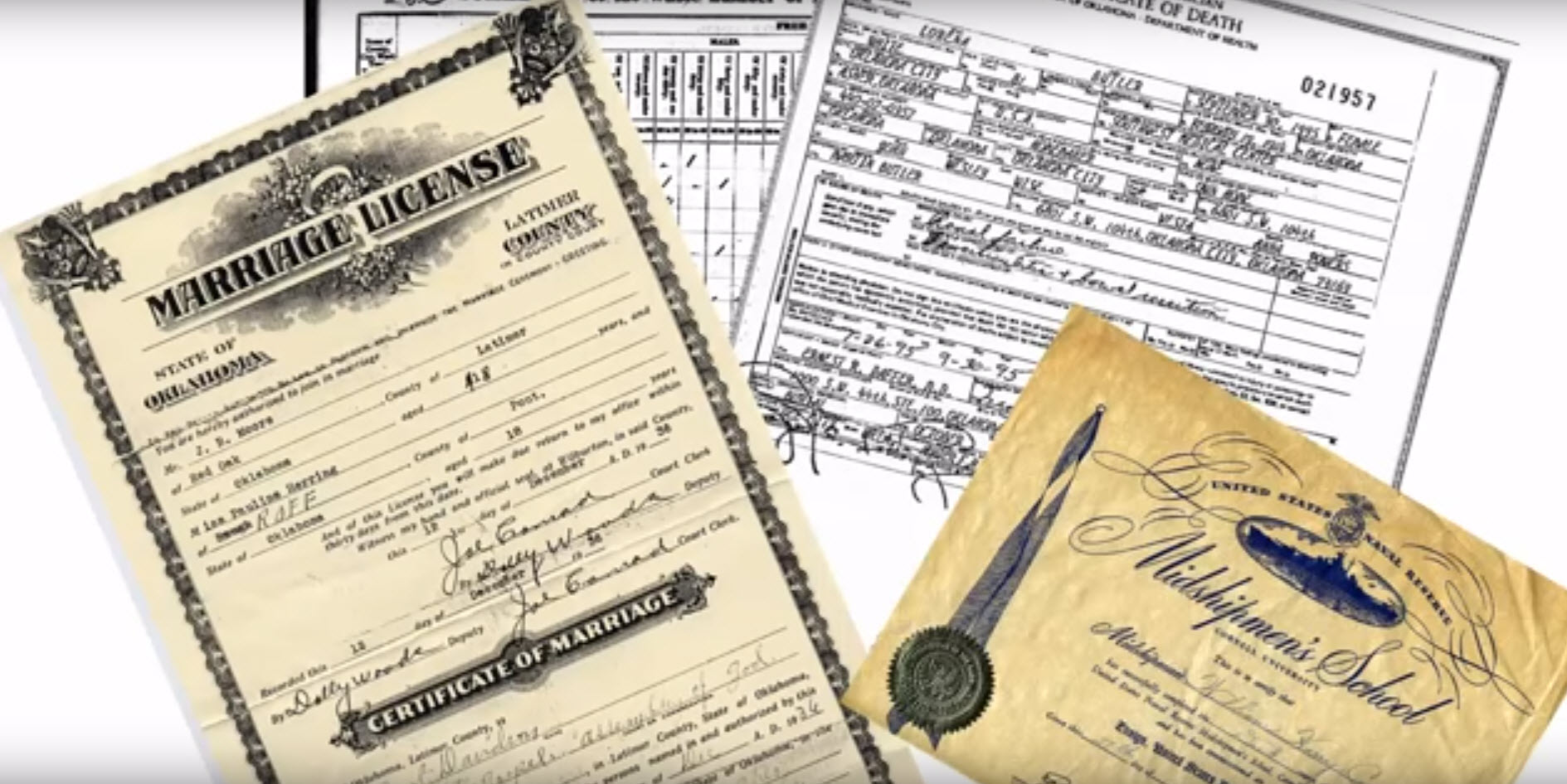 family history video documents applying to lineage societies