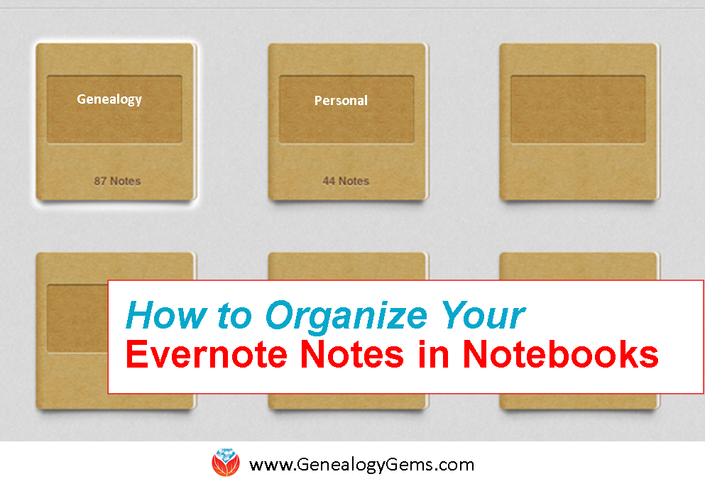 how to organize notes in Evernote notebooks
