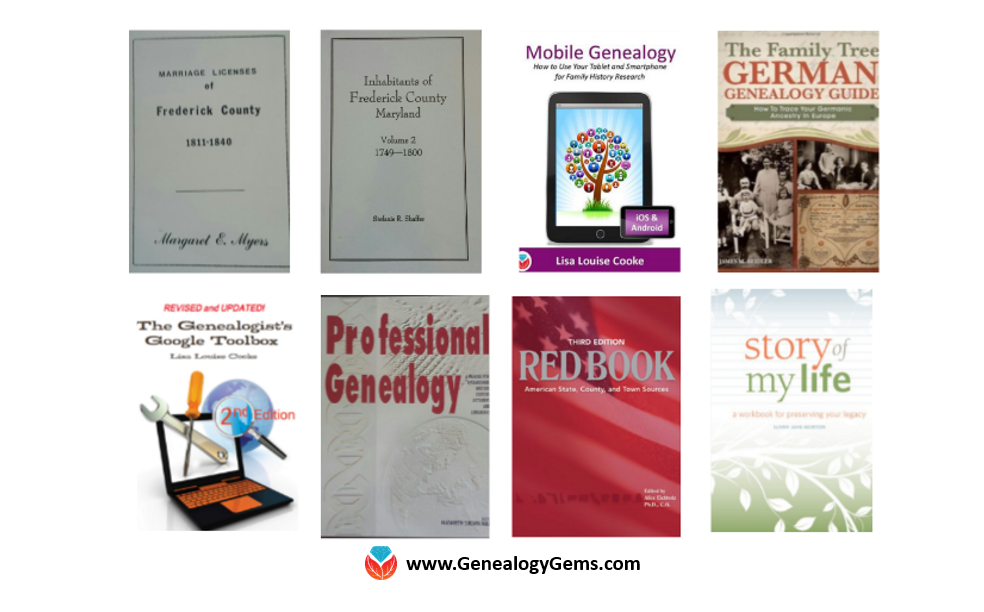 Google slides for genealogy book covers