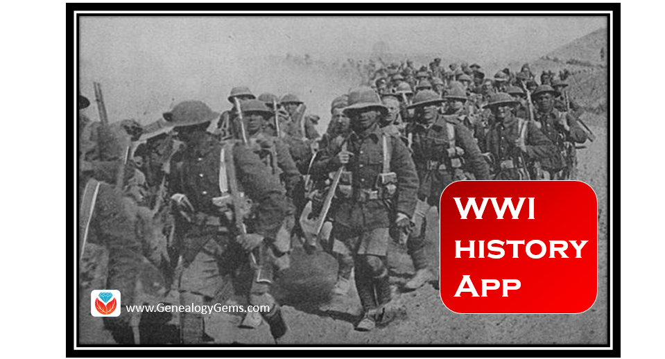 WWI History App in New and Updated Genealogical Collections