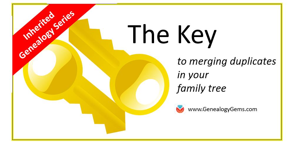 merging duplicate in your tree