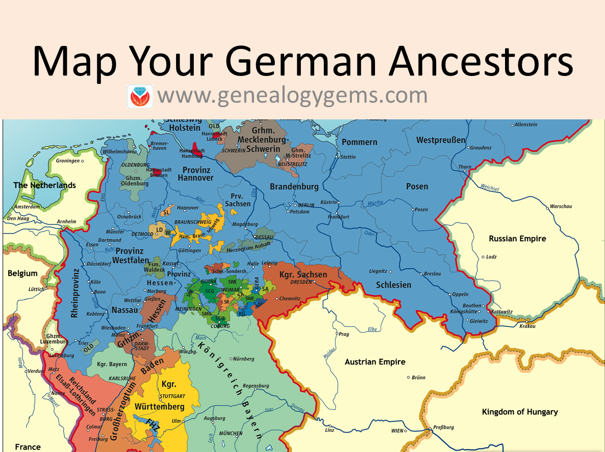 Free German Genealogy Websites Maps Of Germany And Poland - Germany map dortmund