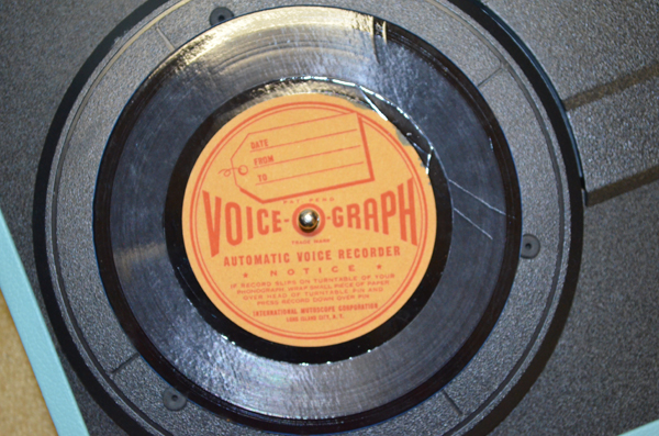 Voice-O-Graph Record