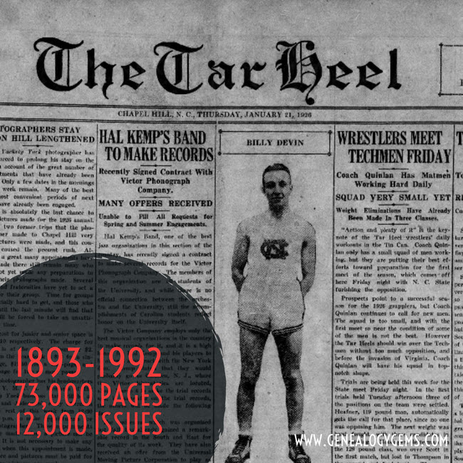 North Carolina historical newspapers