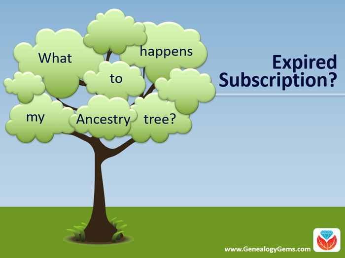 What happens to my ancestry tree if my ancestry subscription expires?