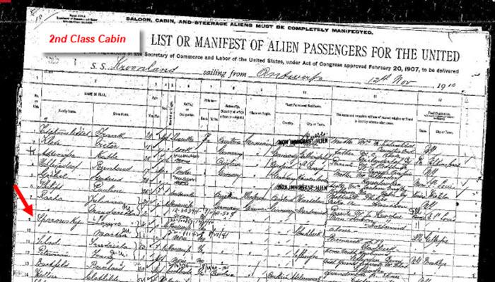 2nd class passenger list