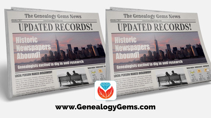 digitized newspapers on genealogy websites