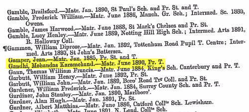 Mohandas Karamchand Gandhi genealogy record