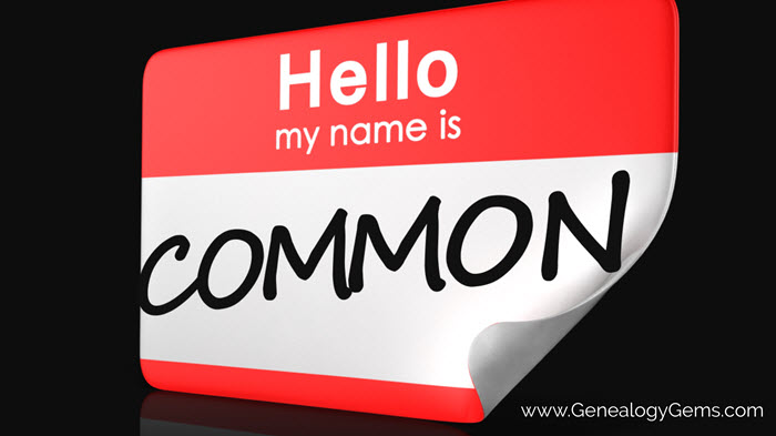 common surnames