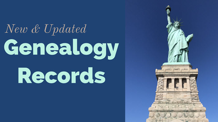 New and Updated Genealogy Records – United States