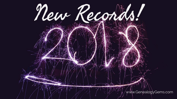 New year, new records for genealogy!