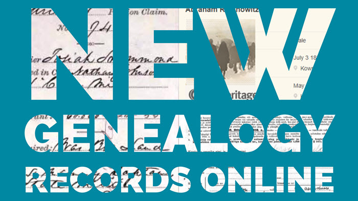 new genealogy records online