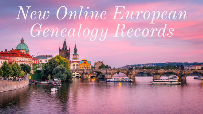 New European Genealogy Records Now Online
