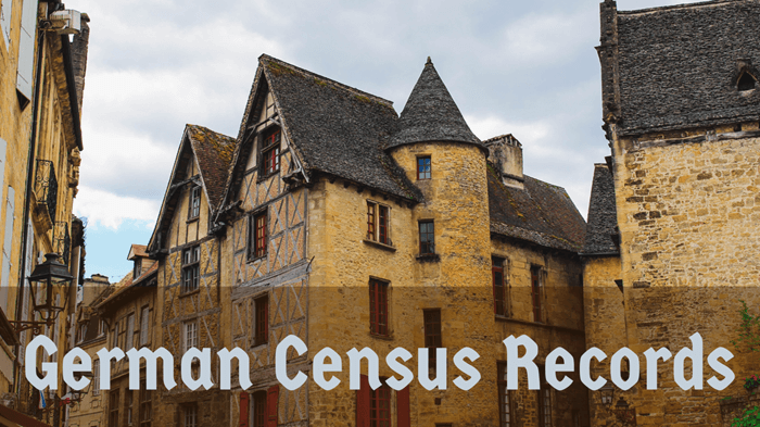 German Census Records DO Exist