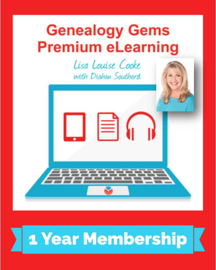 Genealogy Gems Premium eLearning Membership