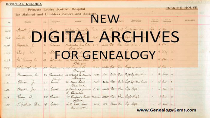 New Digital Archives for Genealogy