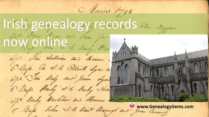 new irish genealogy records online feature
