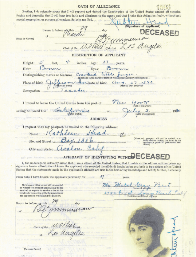 4) Oath of Allegiance passport for genealogy