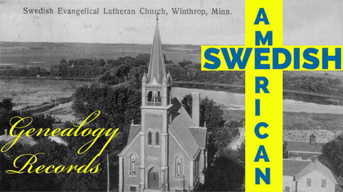 Swedish American Church Records Genealogy
