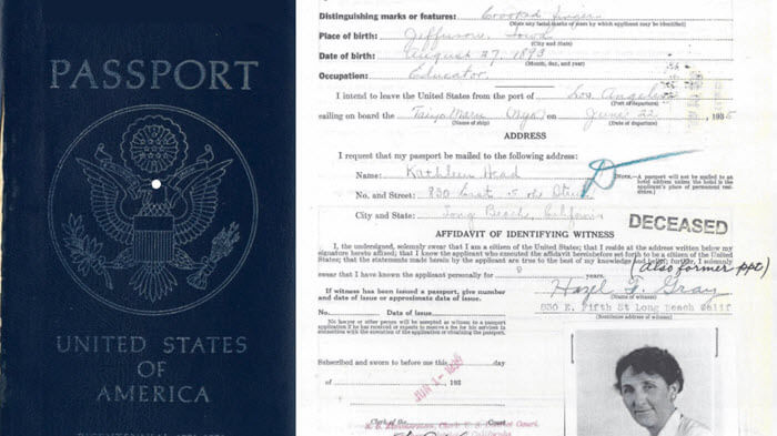 Passport applications for genealogy pinterest
