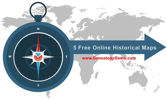 online historical maps for genealogy
