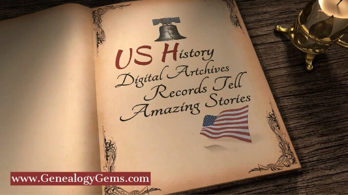 US History Digital Archives genealogy records storybook
