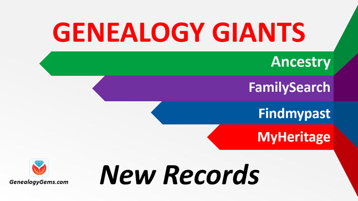Ancestry FamilySearch Findmypast New genealogy records