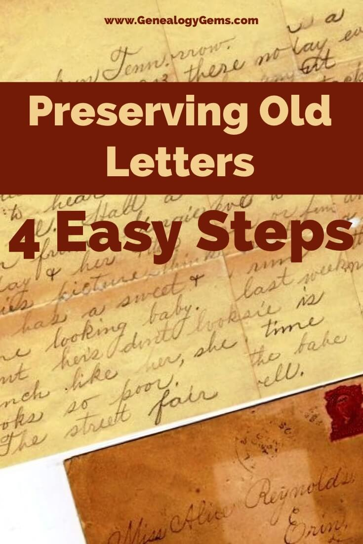 preserving old letters 4 steps