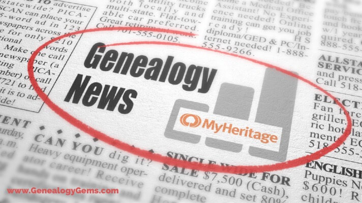 MyHeritage News: Pedigree View, End of WorldVitalRecords