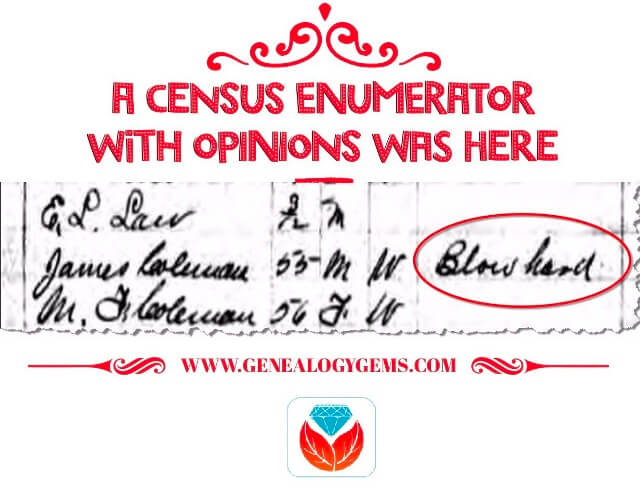 genealogy meme census enumerator with opinions
