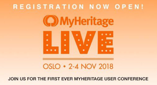 Join Me at MyHeritage LIVE in Oslo, Norway