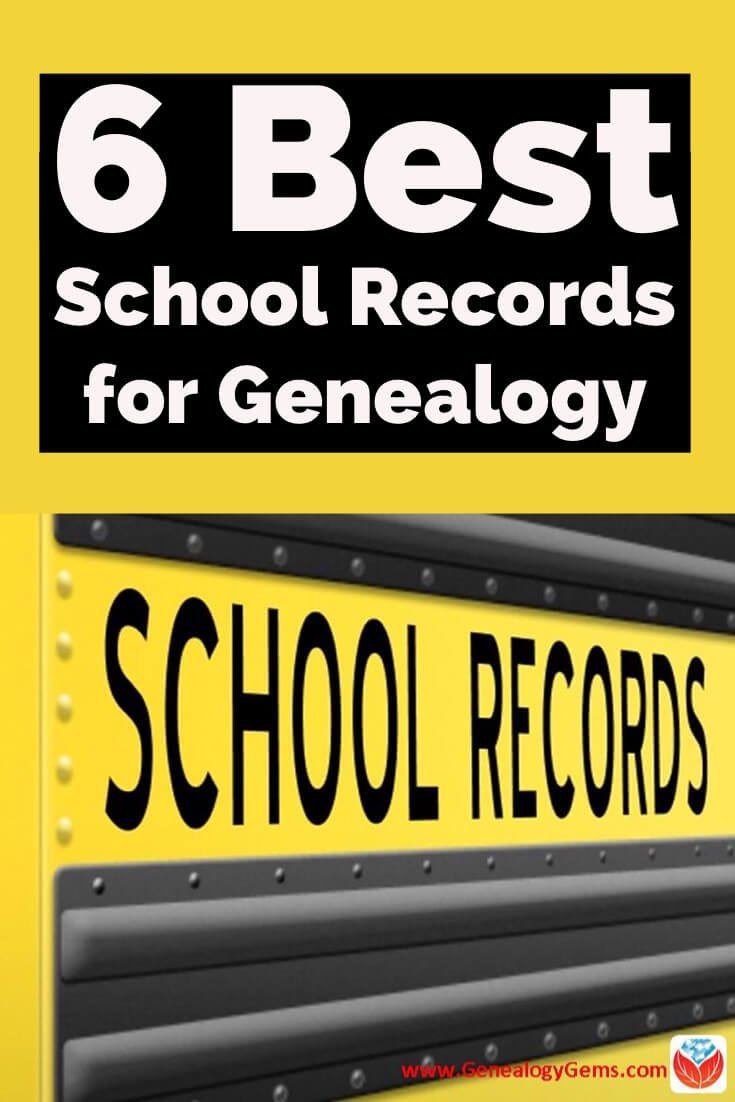 School records for genealogy