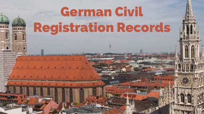 german civil registration records