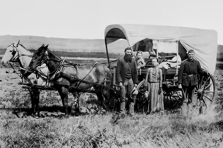 covered wagon family 1886