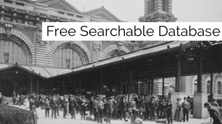 ellis island genealogy database familysearch