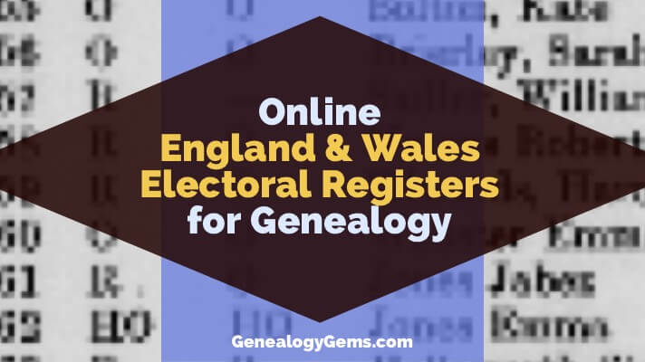 Online England and Wales Electoral Records