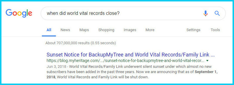 world vital records search