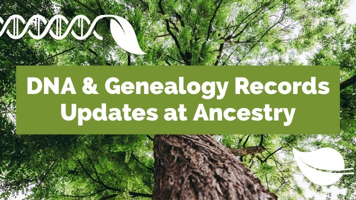 ancestry dna and genealogy records update