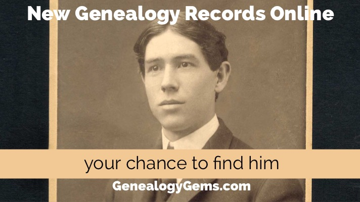 Find Ancestors in these new genealogy records online