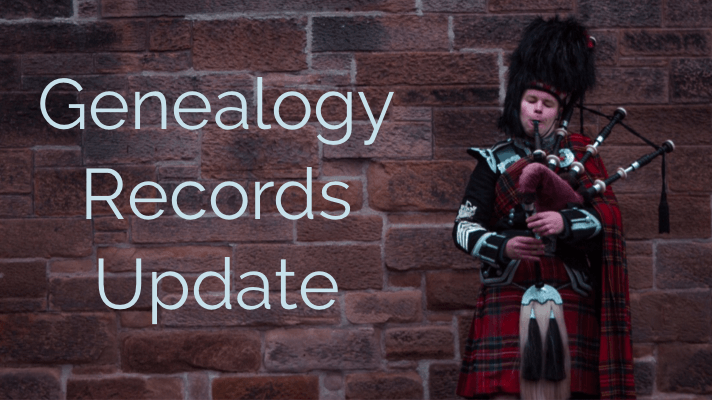 new genealogy records Scottish Scotland Census