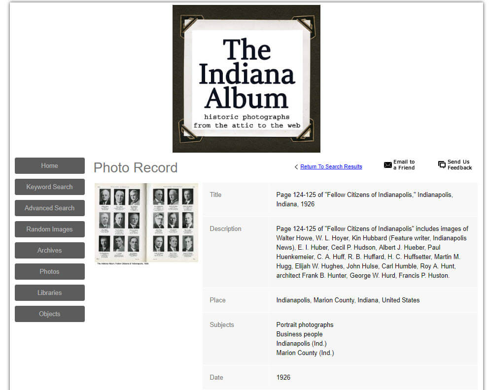 indiana album website