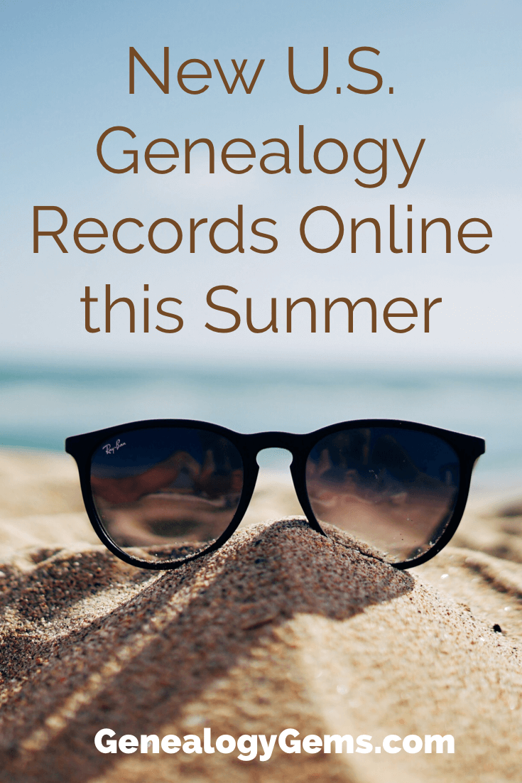 US Genealogy Records new this summer